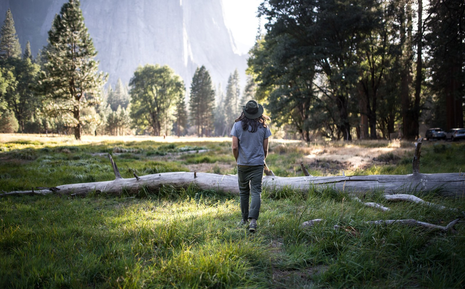 Se balader dans la prairie Yosemite