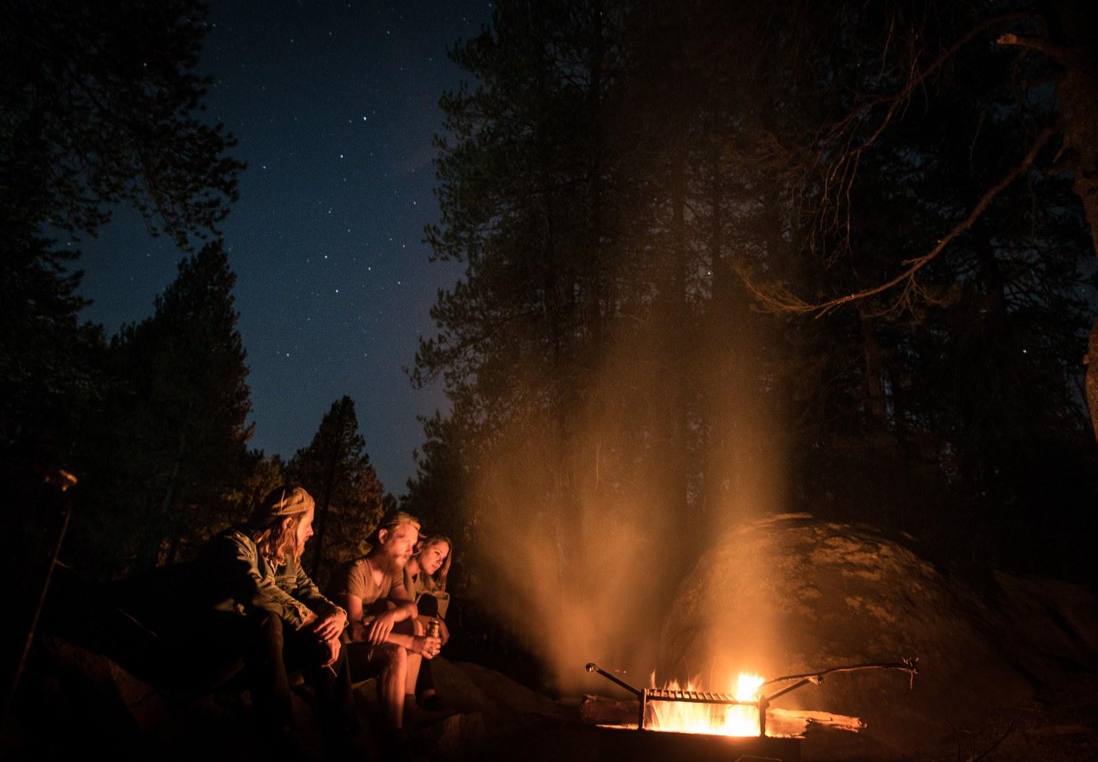 Feu de camp à Yosemite Yosemite