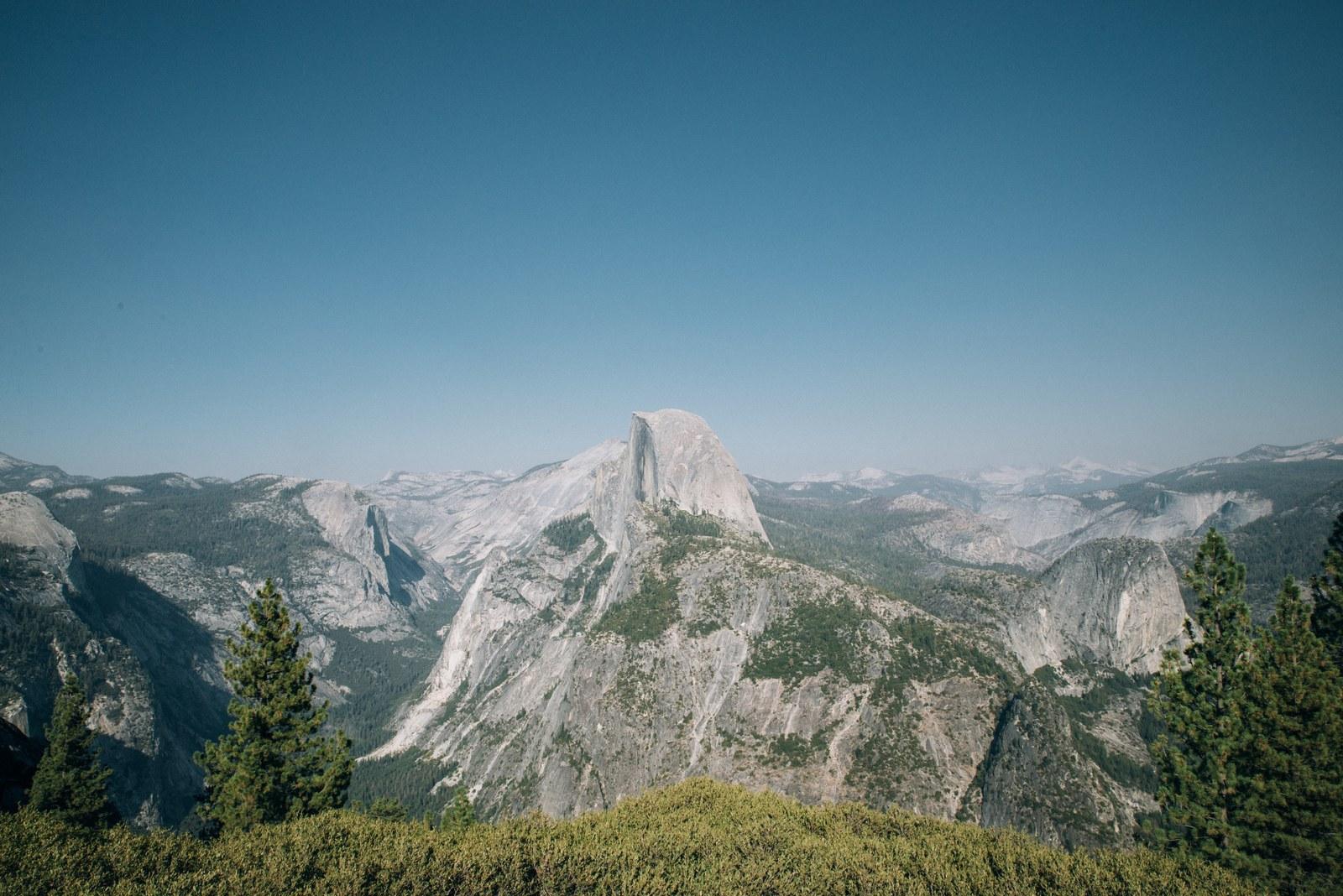 Half Rome depuis Glacier Point Yosemite