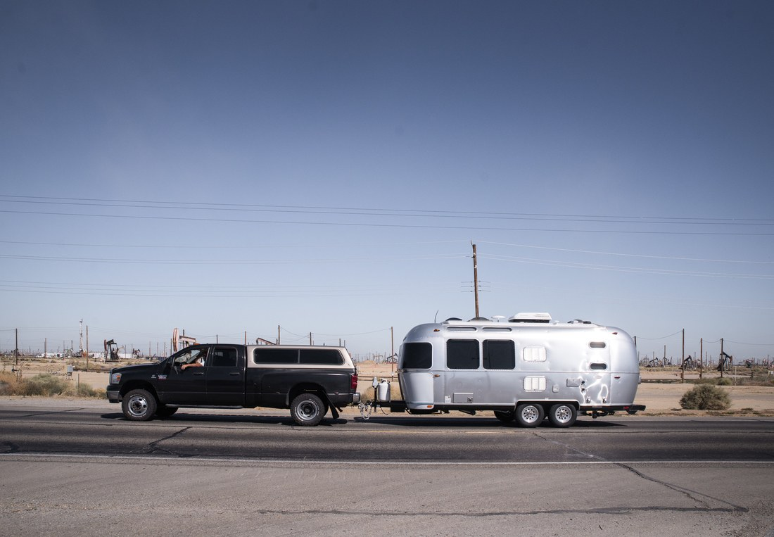 Airstream sur les routes de Californie