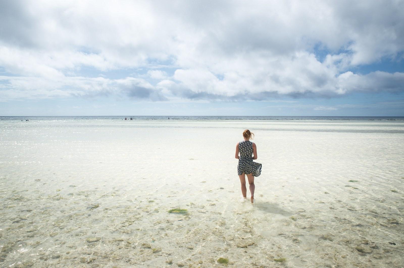Eau cristaline, mer Philippines Anda
