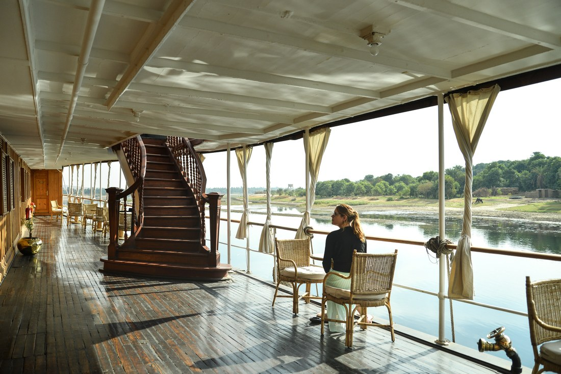 Manue sur le pont du Steam Ship Sudan