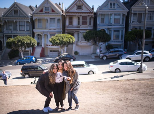 Painted Ladies Houses (selfie)