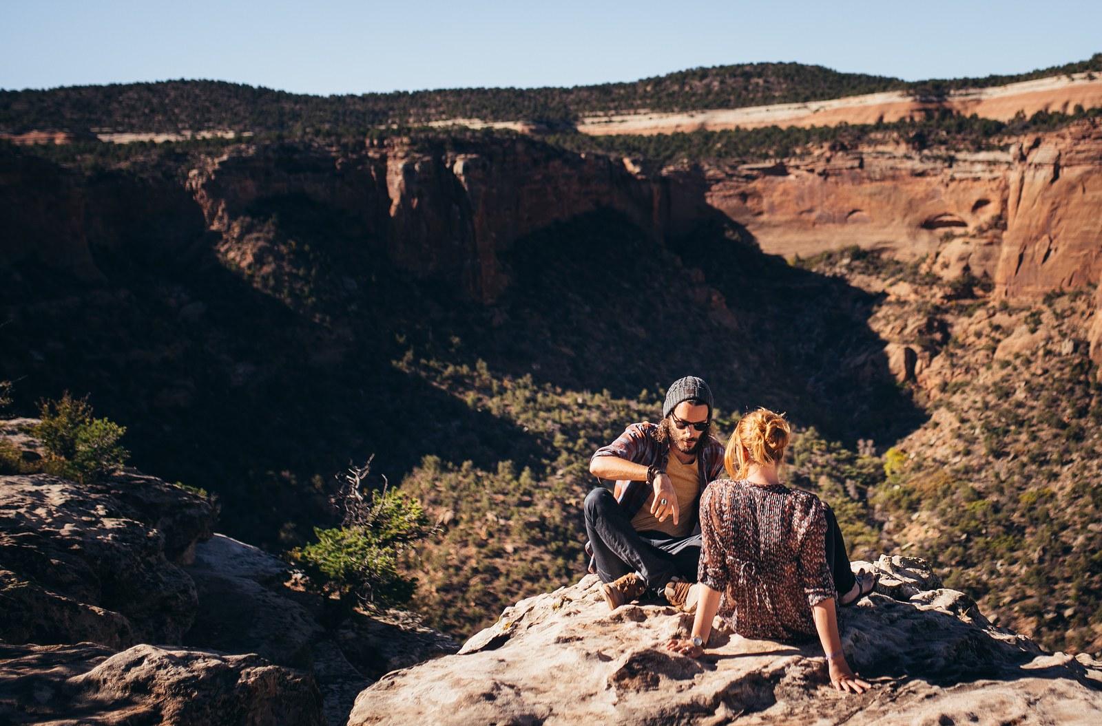 Happy together. Au Colorado. Colorado National Monument