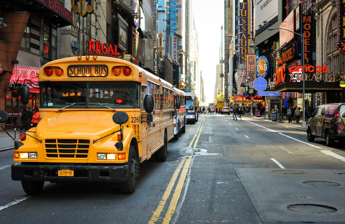 School bus, New York
