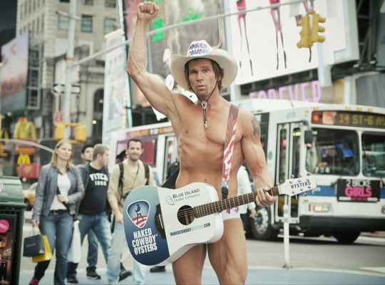 Naked cowboy Times Square New York