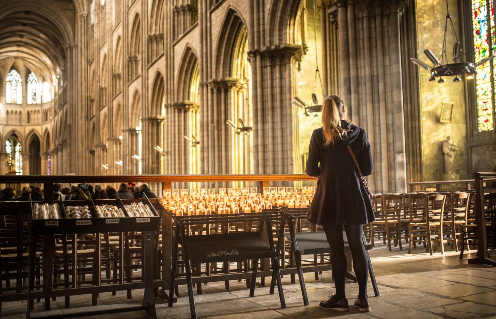 A l'intérieur de la Cathédrale de Rouen  Rouen