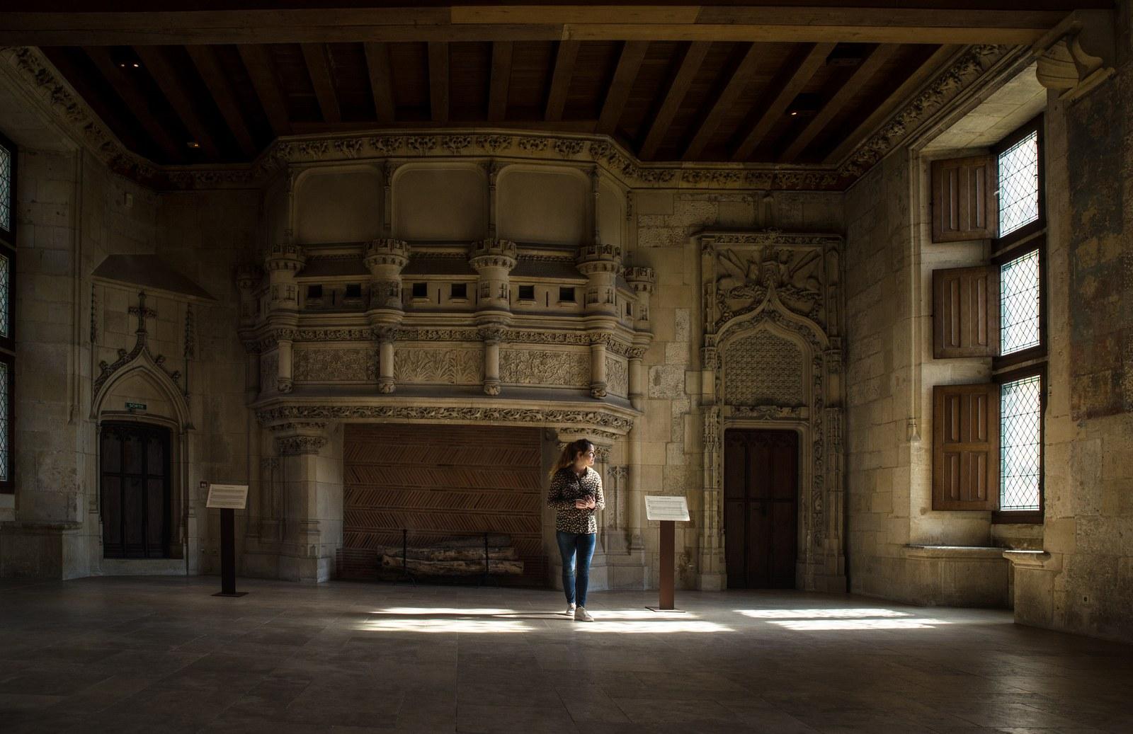 La salle des festins du Palais Jacques Coeur  Bourges