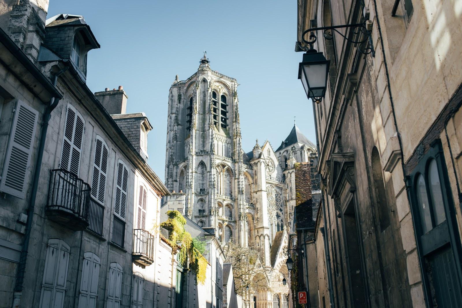 Vue sur la Cathédrale  Bourges