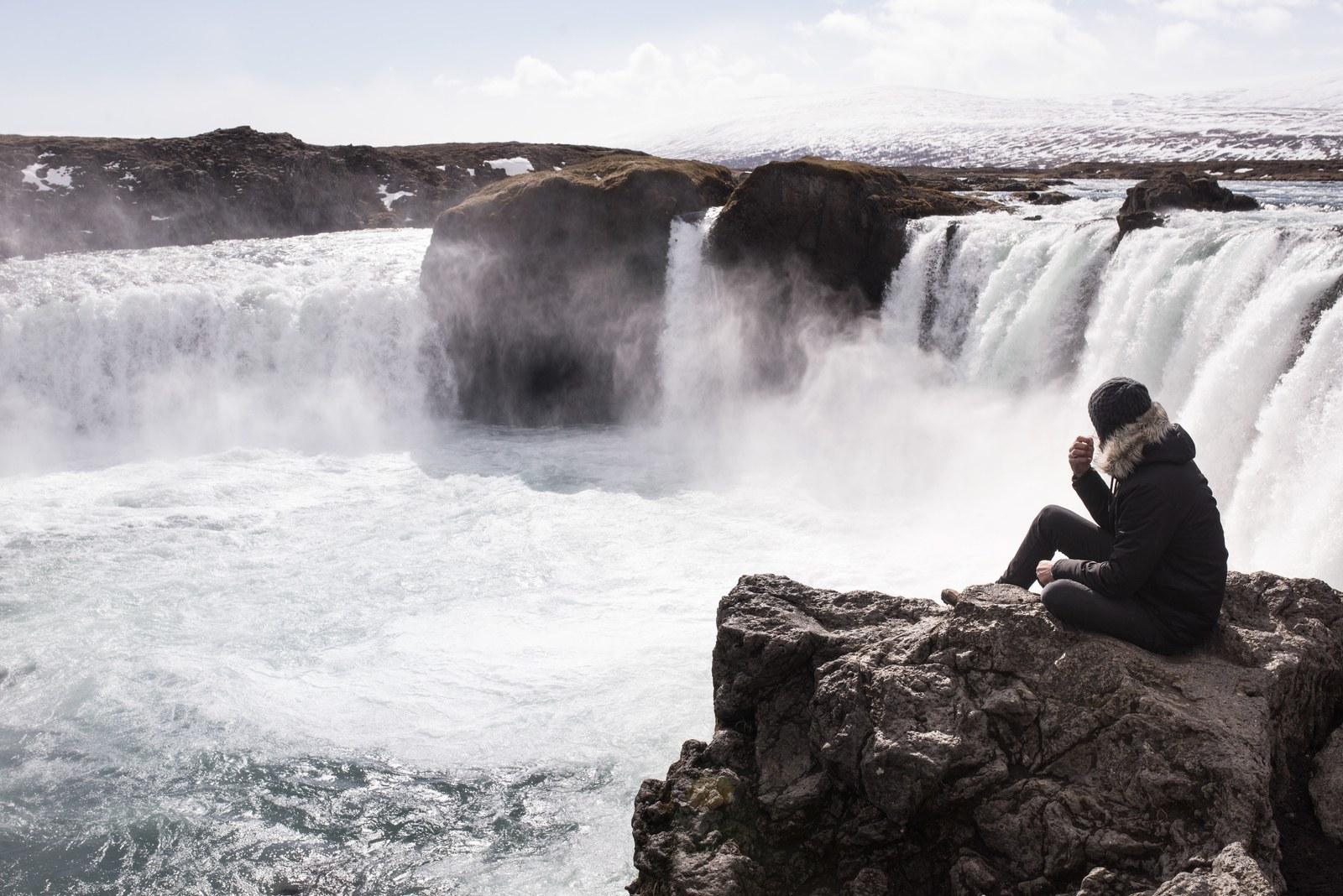 Seb à Goðafoss Goðafoss