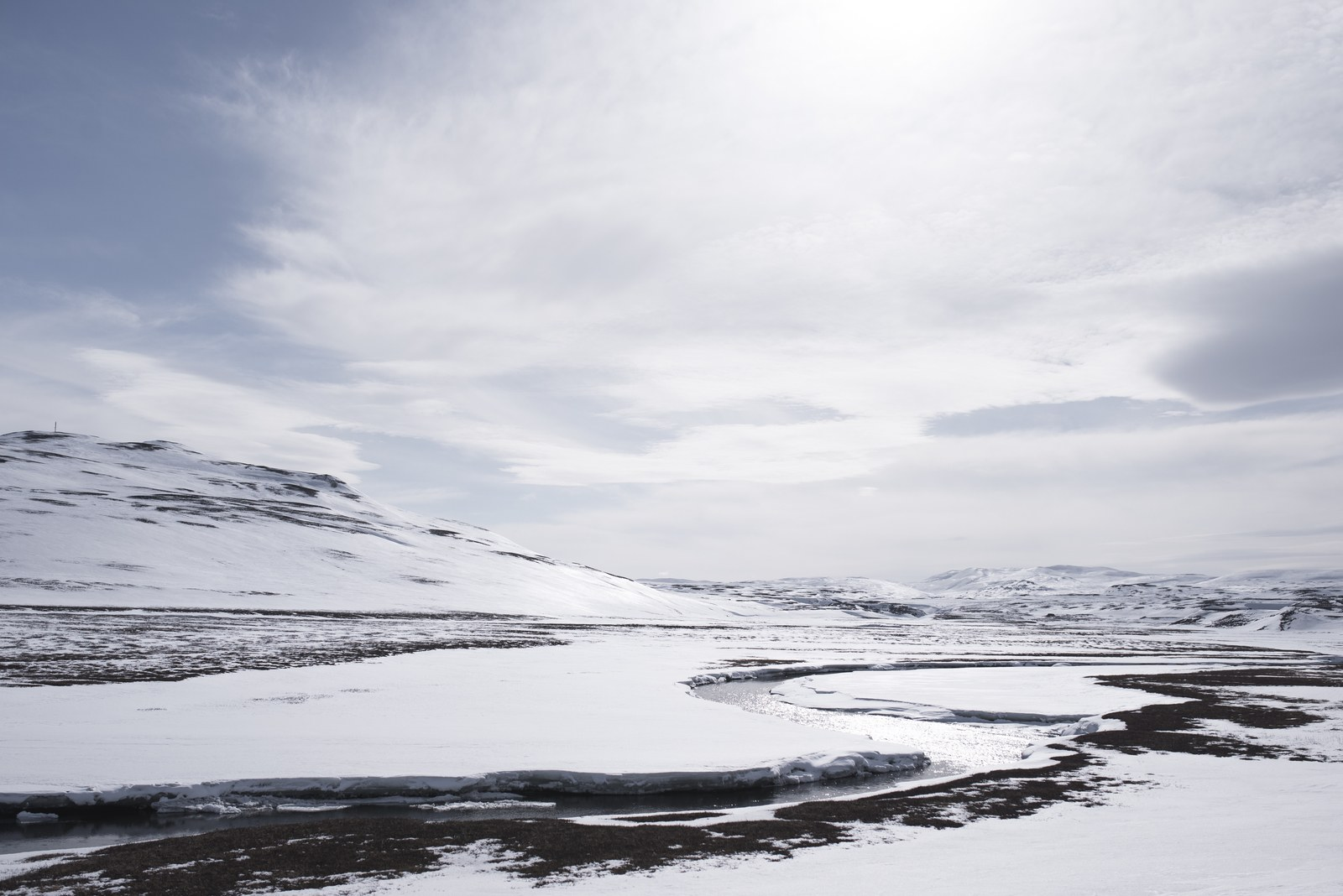 Islande sous la neige Vopnafjörður