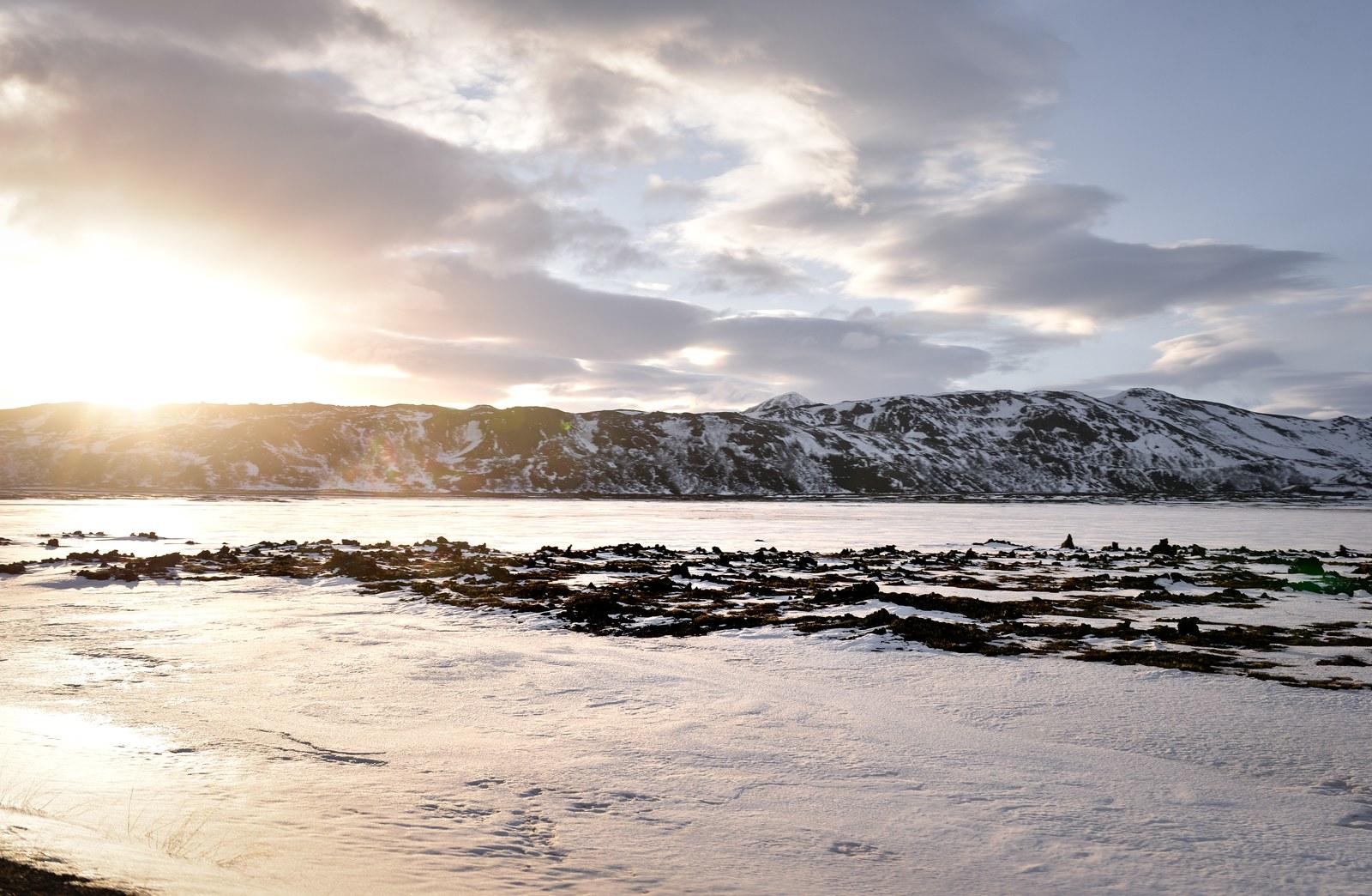 Lumière du soir, Islande Mývatn