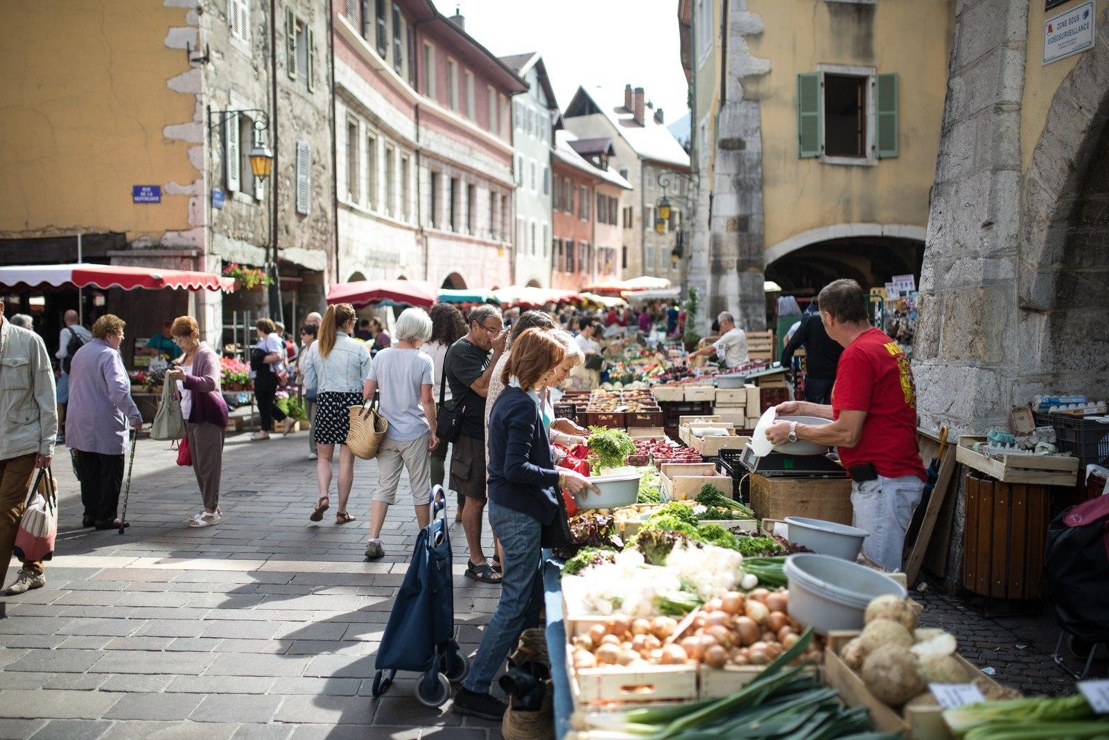 Faire le marché Annecy