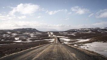 Route non bitumee typique de l islande