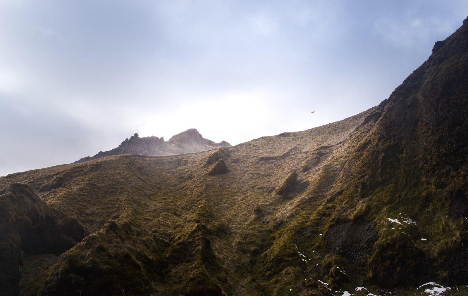 Roches à Sólheimajökull Sólheimajökull