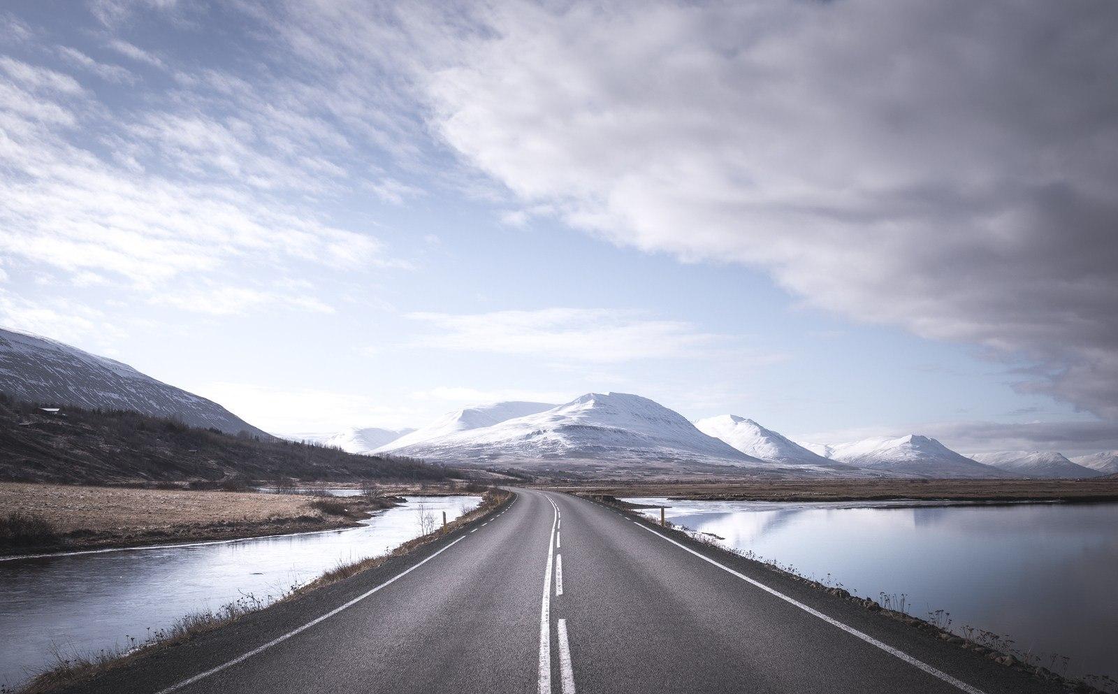La superbe route 1 d'Islande Akureyri