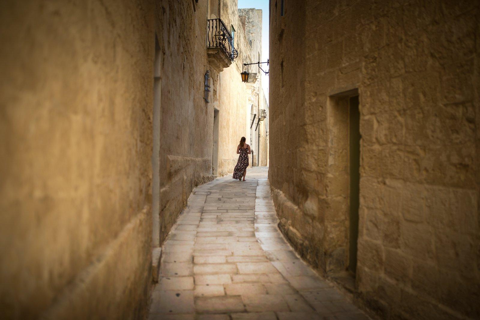 Manue, dans les rues de Mdina Mdina