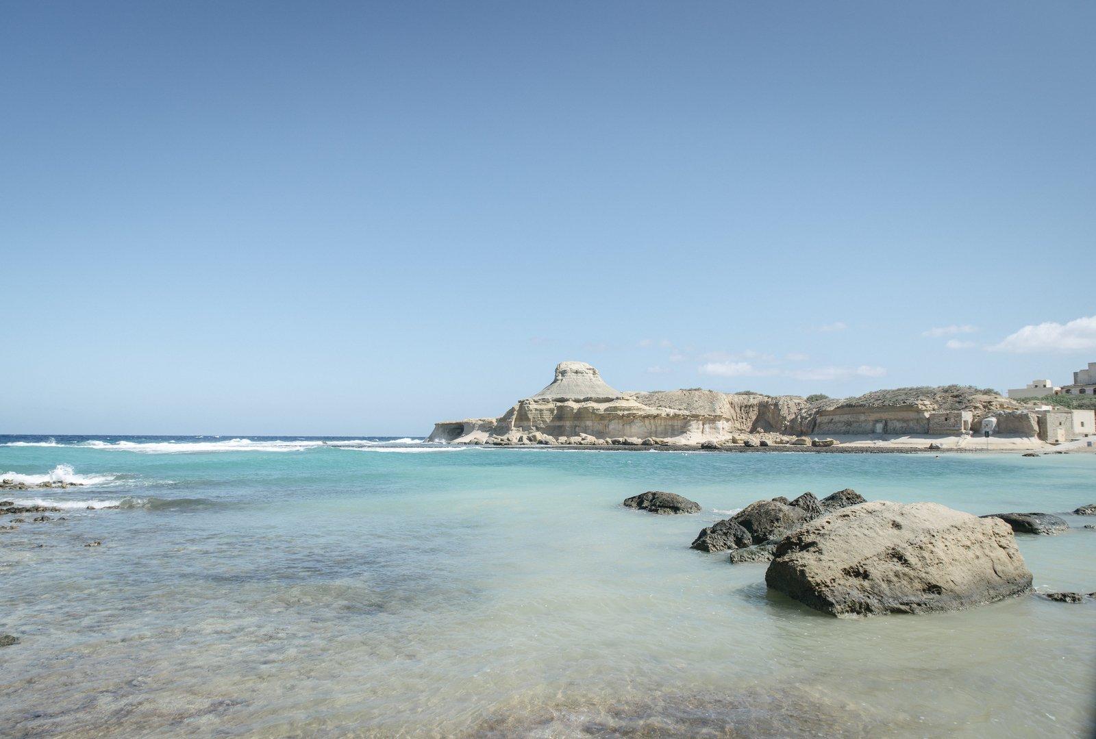 Crique pour se baigner à Malte Victoria