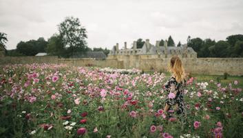 Dans les jardins du chateau du rocher