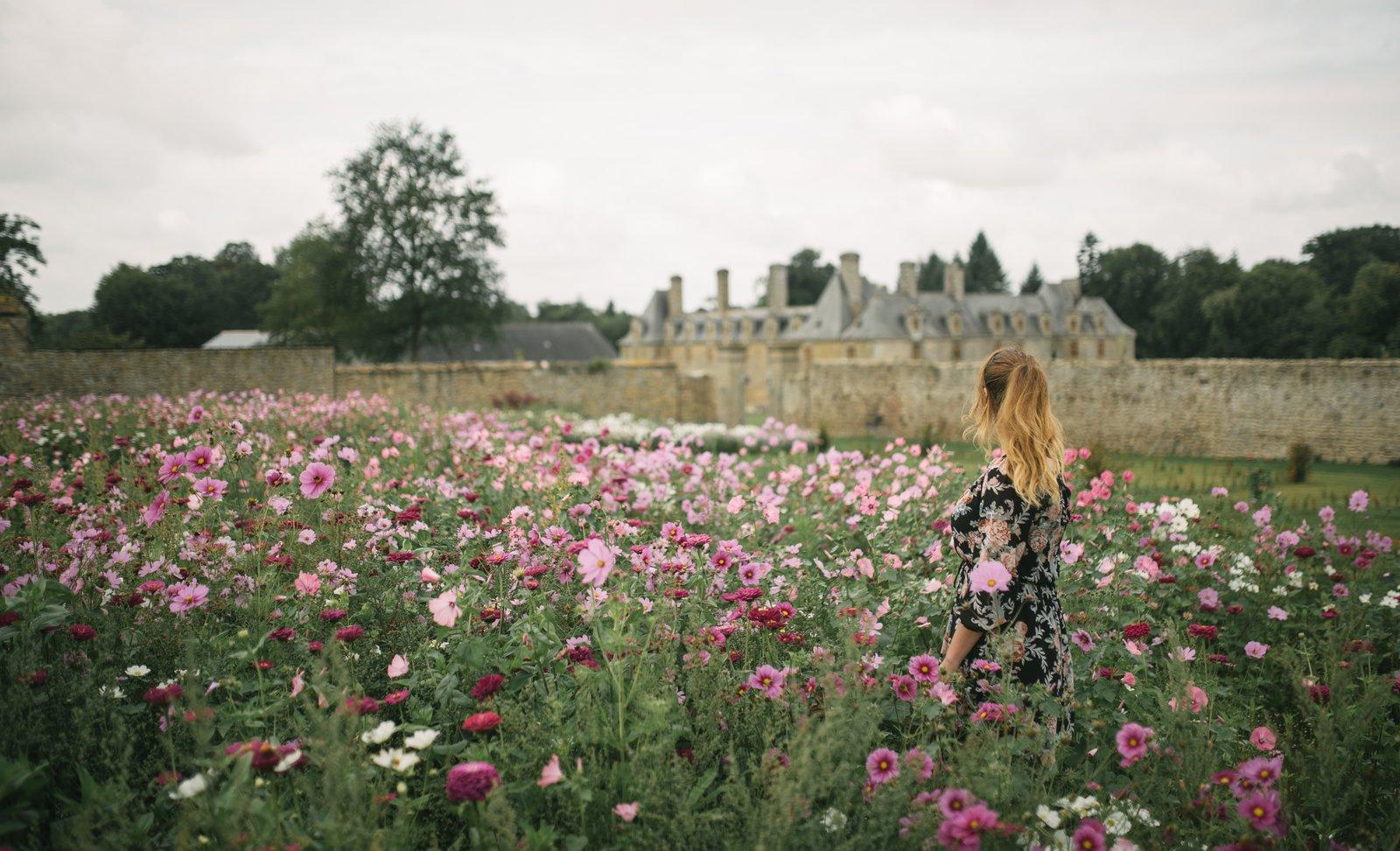 Dans les jardins du château du Rocher Saint Etienne En Coglès