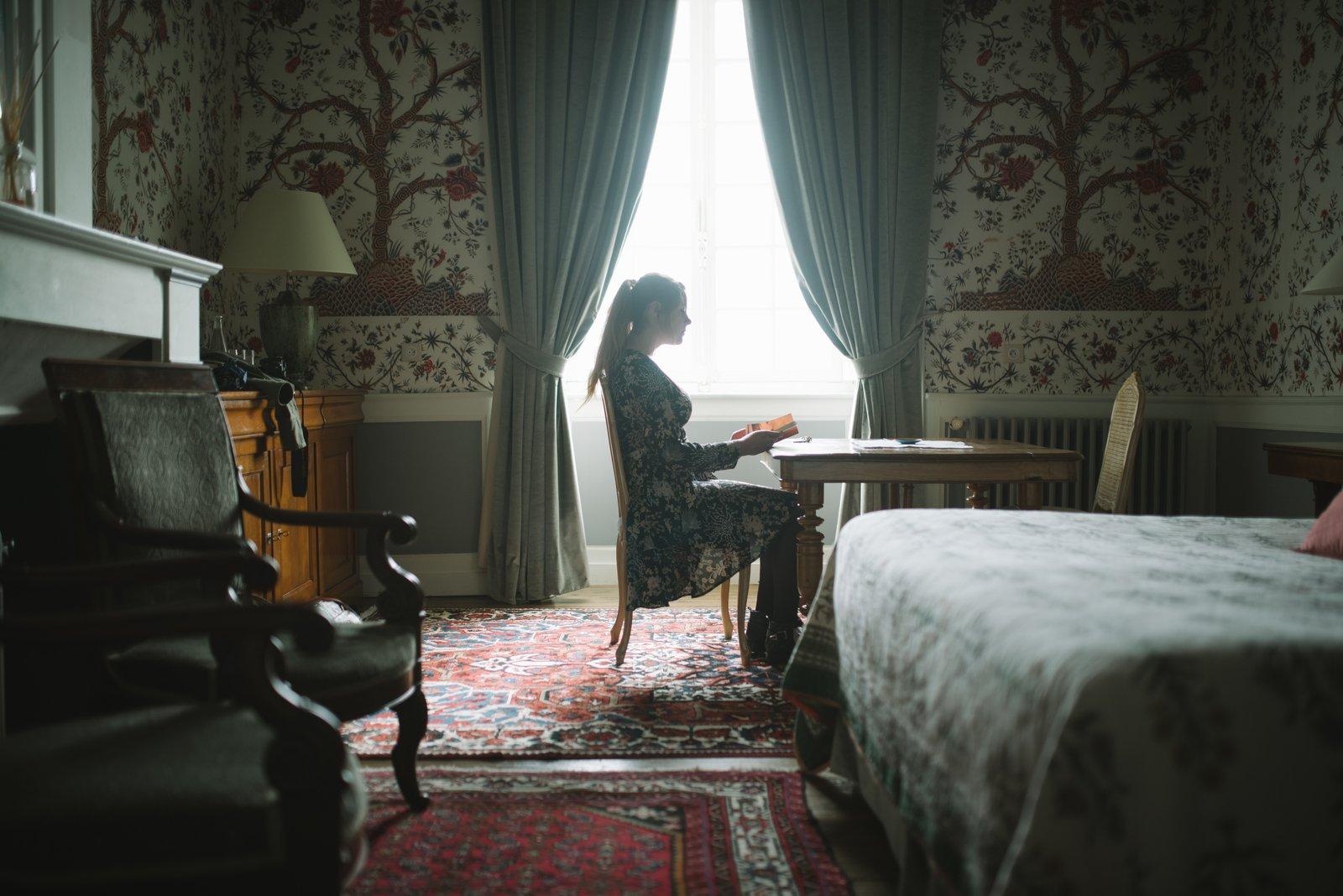 Dans la chambre du château de la Ballue Bazouges-la-Pérouse