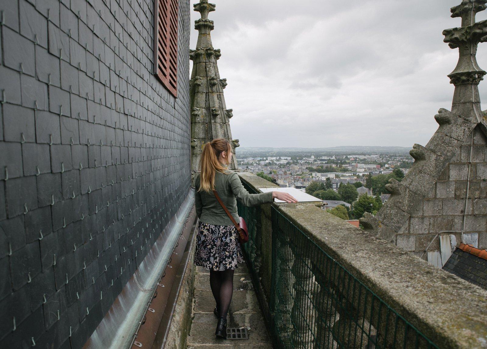 Au sommet du chateau Fougères