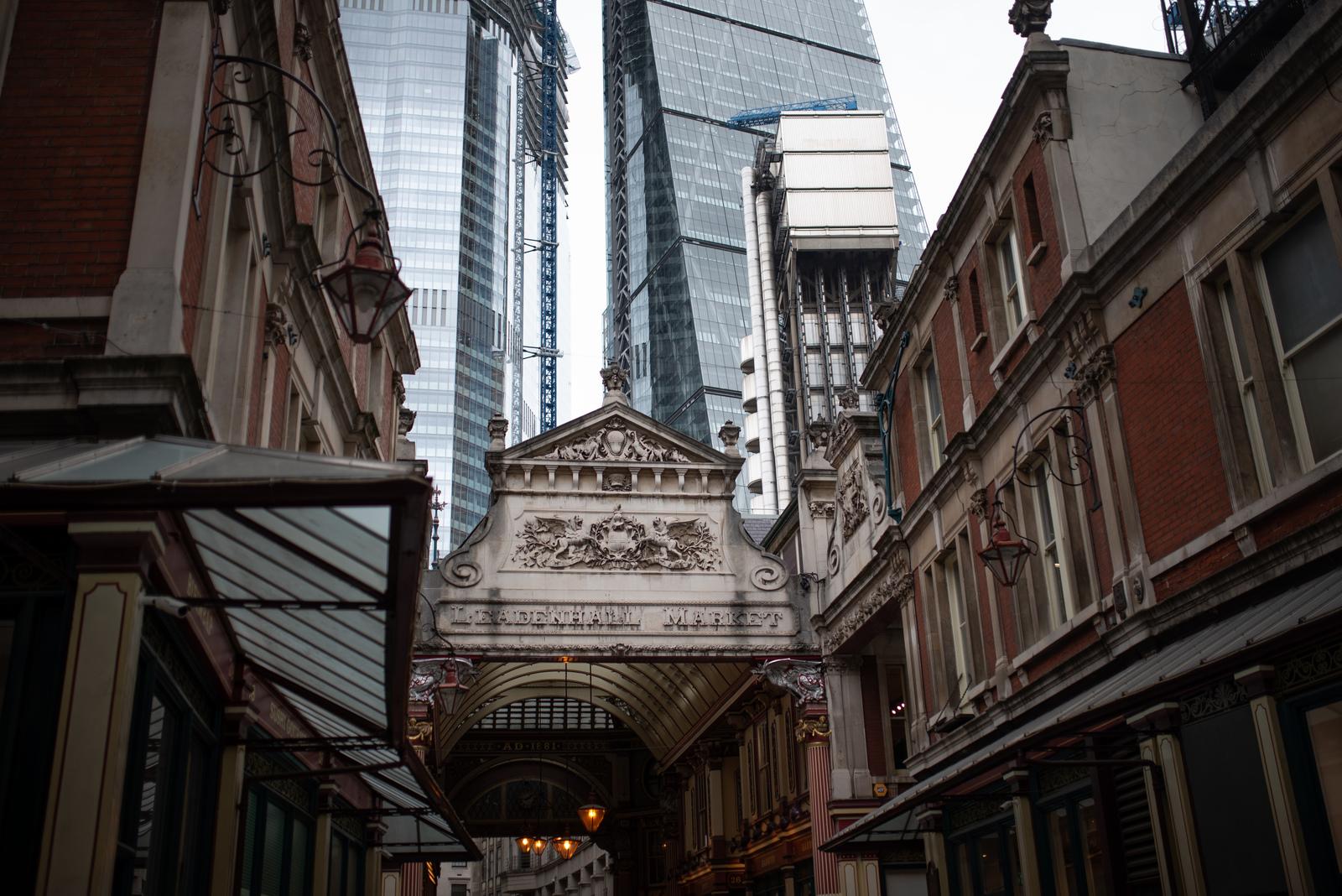 mélange d'architecture ancienne et contemporaine  Londres