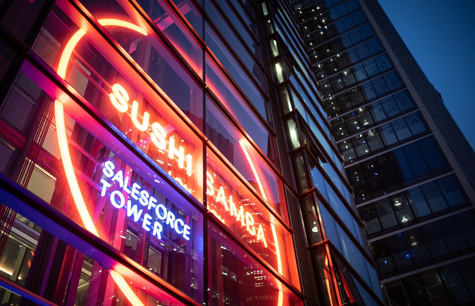 néon de sushi samba, restaurant au 39ème étage de londres  Londres
