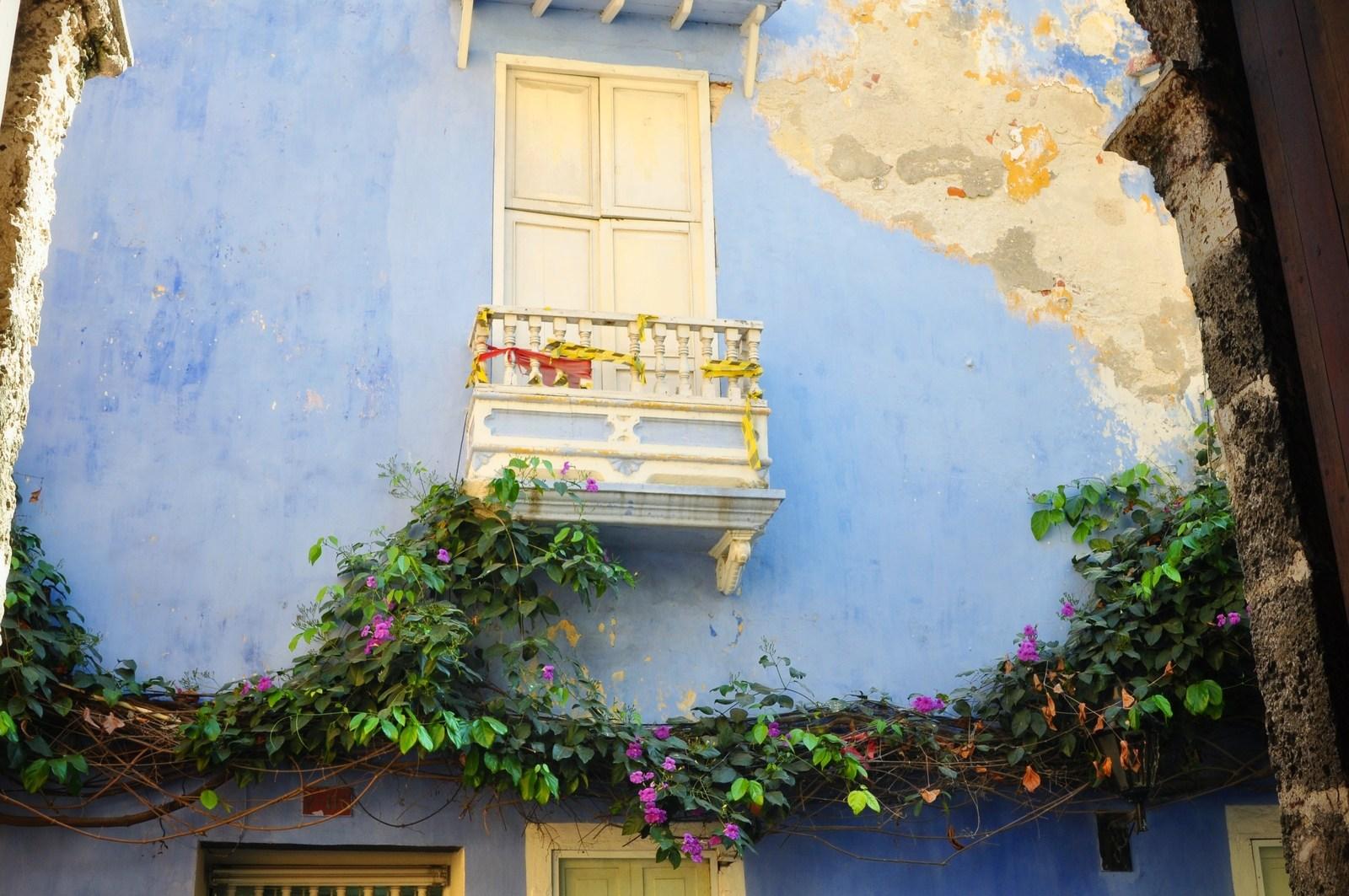 Mur bleu de Carthagène, Colombie Carthagène