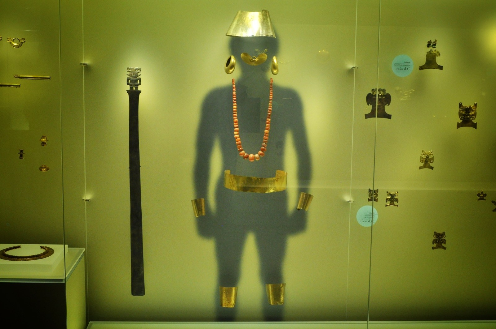 Costume préhispanique, musée de l'or à Bogota Bogota