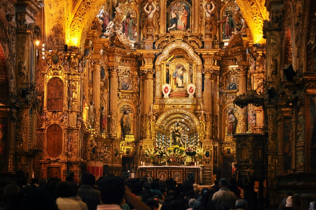 Eglise Baroque de Quito